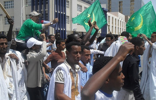Protests in the capital of Mauritania in April 2011, inspired by the Arab Spring