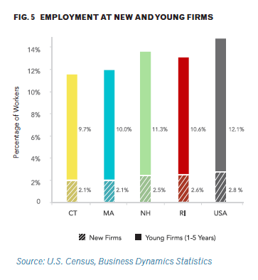 employment at new and young firms