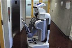 robot operating elevator