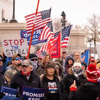 Stop the Steal protest in Minnesota, November 2020