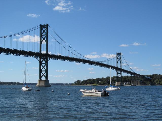 The Mount Hope Bridge in RI